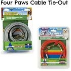 Four Paws 15 Foot Puppy Dog Tie Out Cable, Four Paws 50 ft Trolley Exercisers