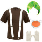 LADIES ADULTS UMPA LUMPA OOMPA LOOMPA FANCY DRESS COSTUME WILLY WONKA OUTFIT.