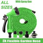 EXPANDING EXPANDABLE ELASTIC COMPACT GARDEN HOSE PIPE WITH SPRAY GUN 25 TO 150FT