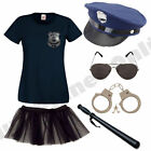 LADIES NEW YORK AMERICAN POLICE WOMAN COP FANCY DRESS COSTUME HEN PARTY..