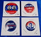 George Wallace Presidential Campaign Political Pins Pinbacks Buttons Lot of 4