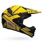 Bell SX-1 Offroad Helmet - Stack Charcoal / Yellow MX Motocross Trail Enduro Dir