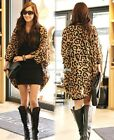 Fashion Women's Leopard Batwing Sleeve Casual Blouse Cardigan Chiffon Shirt Tops