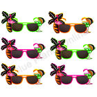6X PALM TREE FLAMINGO SUNGLASSES HAWAIIAN SUMMER FANCY DRESS COSTUME HEN PARTY