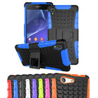 Shockproof Heavy Duty Armor Case Stand Cover for SONY Xperia Z2 Z3 Z5 Compact