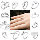Hot 925 Silver Ring Finger Fashion Women Lady Ring Opening Adjustable