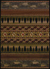 Brown Lodge Carpet Striped Waves Trees Leaves LinesSouthwestern Lodge Area Rug