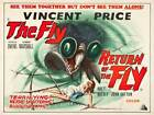RETURN OF THE FLY  FILM MOVIE METAL TIN SIGN POSTER WALL PLAQUE