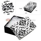 Black Damask Cotton Filled Gift Boxes Jewelry  Box Lots of 12~25~50~100
