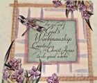 We Are God's Workmanship in Christ Good Works~Christian Fabric Quilt Block Panel