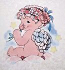 Dreamsicles Angel Pearlized Fabric Panel HEAVEN SCENT Rose Baby Valentine's Day