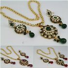 Traditional Chain Pendant Set Earring Indian Fashion Jewelry Women New