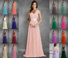 One Shoulder Bridesmaids Dress Long Prom Evening Wedding Gowns Stock Size 6-26