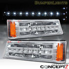 LED Front Bumper Signal Lights for 2003-2006 Chevy Silverado Avalanche chrome