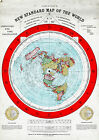 1892 Flat Earth Map - Alexander Gleason New Standard Map of the World Gleason's