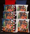 Custom Patriotic Puppy  DOGS 8 ACA Regulation Handmade Custom Cornhole bags B92