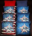 Custom Patriotic Air Force Military 8 ACA Regulation Handmade Cornhole bags B21