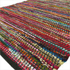 3 X 5, 4 X 6 Ft. Black Woven Chindi Rag Rug Bohemian Boho Decorative Indian