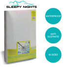 TERRY TOWELLING WATERPROOF MATTRESS PROTECTOR COTTON BED COVER FITTED SHEET