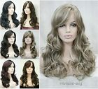 7 colors Parted side Long Wavy Women Ladies Natural Daily wig Hivision 9011L