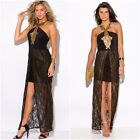 New Women Summer Lace Sleeve Black Beach Party Evening Cocktail Maxi Long Dress