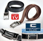 Stylish Comfort Click Belt Leather With Steel Brown And Black For Men Black UK