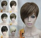 Fashion model Asymmetric Short Straight Heat Resistant Natural Daily wig #9114