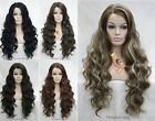 Fashion Long Wavy fluffy Lace Front Heat Resistant Women Natural Daily wig #9207