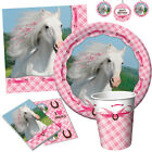 HEART MY HORSE Birthday Party Range - Pony Tableware Balloons & Decorations