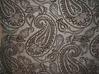 "Lee Jofa Groundworks ""Paisley Flock"" fabric remnant for craft paisley  mult clrs"