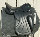 SELLE DRESSAGE IN LEATHER- SPANALDI BLACK - MODEL DIAVOLA NEW