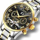 Classic Women Automatic Watch Date Stainless Steel Mens Mechanical Analog Wrist