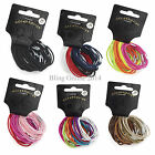 NEW 30pcs THIN HAIR BANDS PONY TAIL ELASTICS HAIRBANDS BOBBLES PONIOS SCHOOL