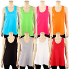 Womens Loose Fit Tank Top 100% Cotton Relaxed Flowy Basic Sl