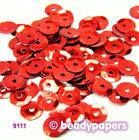 Cup Plastic Sequins 6 - 7 mm Bright Red 30 g, 15 g 9111