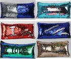 Rectangle Magical Shine mermaid Sequins PILLOW CASES CUSHION COVERS 60 X 30
