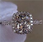 Bling Crystal CZ White Wedding Band Promise Charm Rings Real 925 Sterling Silver