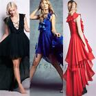 Formal Wedding Banquet Bridesmaid Evening Prom Party  Celebration High Low Dress