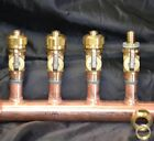 "2"" Copper Manifold 1/2"" Compresson STANDARD. PEX (W & W/O Ball Valves) 2-12 Loop"