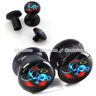 """2x 6G-9/16"""" Angle Dove Acrylic Screw Ear Plugs Tunnel Stretcher Expander Earlets"""