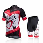 Woman Cycling Jersey And Bike Padded Shorts Set Love MTB Clothing Bicycle Suit