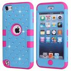 Hybrid Bling Glitter 2 in 1 Case Cover for Apple iPod Touch 5th 6th Generation <br/> *3 FREE GIFTS* Same day Ship before 3PM