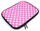 """Neoprene Sleeve Zip Case Cover Pouch for Various 7"""" Inch Tablets & Black Stylus"""