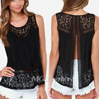 Size 8-24 Ladies Lace Tank Top Sleeveless T-shirt Vest Summer Blouse Tee Tops