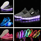 Boys Girls LED Light Up Children Kids Unisex Trainers Luminous Sneakers Shoes UK