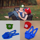 Newborn Baby Boy Crochet Knit Costume Photo Photography Prop Outfits Mario &1