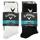 Callaway Golf 2017 Mens Opti-Stretch Cushioned Opti-Dri Sports Crew Socks 3 Pack