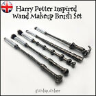 Harry Potter cosmetic makeup brushes Wizards Magic Wand Make Up Brush Set of 5