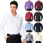 2017 Mens Smart Formal Dress Shirts Slim Long Sleeve Casual Button T Shirt Tops.