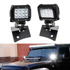36W LED Pod Light w/A-Pillar Mounting Bracket, Wiring For 07-17 Jeep Wrangler JK